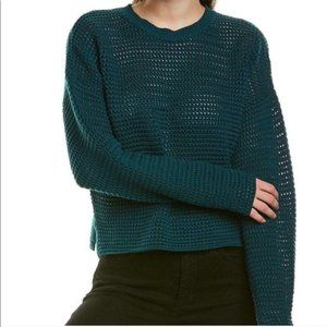NEW Joie L Diza Open Knit Pullover Sweater Teal